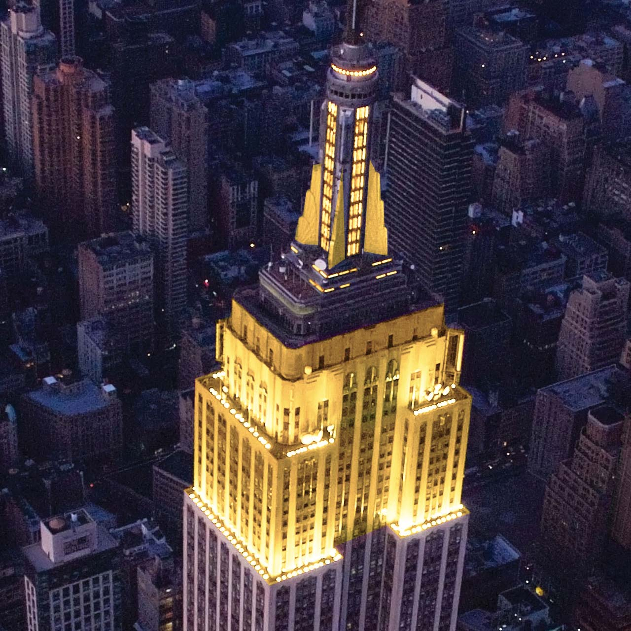 Empire State Building Glows Yellow